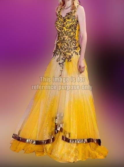 Golden Yellow Gown