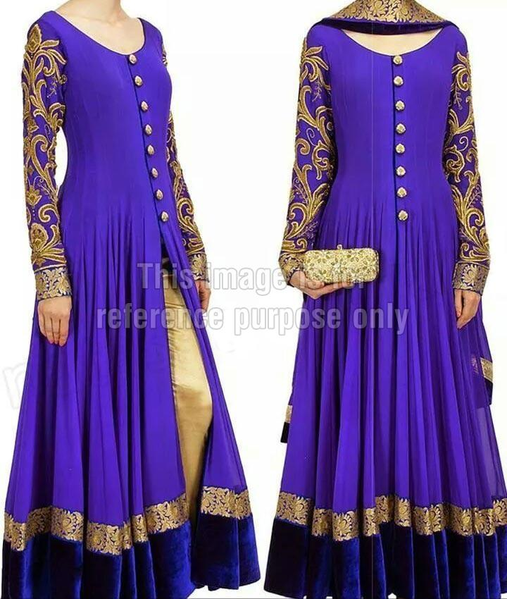 purple anarkali