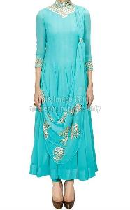 Sky blue georgette suit