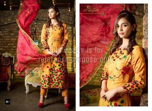Embroidered Rveel Gold Yellow Suit