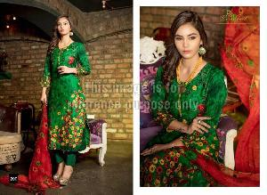 Embroidered Rveel Gold Green Suit