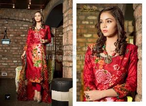 Embroidered Rveel Gold Red Suit