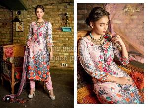 Embroidered Rveel Gold Pink Suit