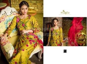 Embroidered Rveel Gold Olive Green Suit