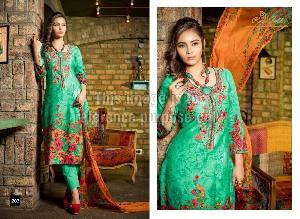 Embroidered Rveel Gold Light Green Suit