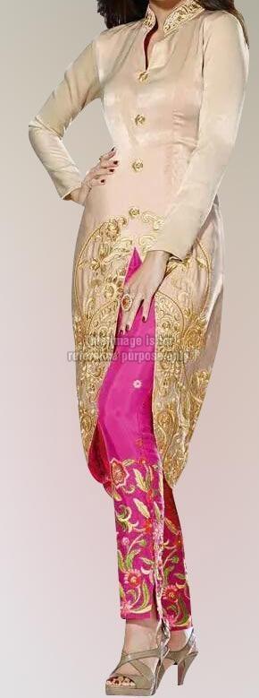 Stylish Linen & Fuscia Pink Indo-Western Wear