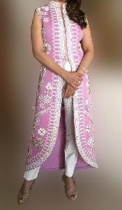 Madhuri Pink Pearly Out Fit
