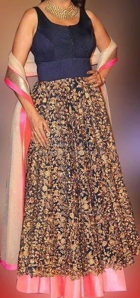 Madhuri Blue Designer Gown