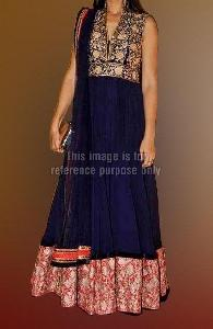 Dark blue anarkali