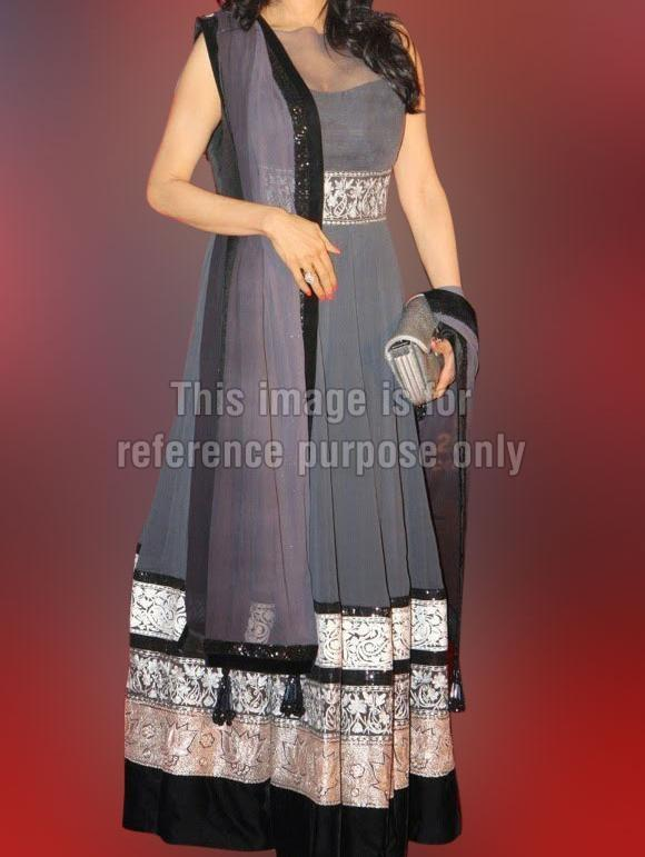Sridevi Grey Designer Suit